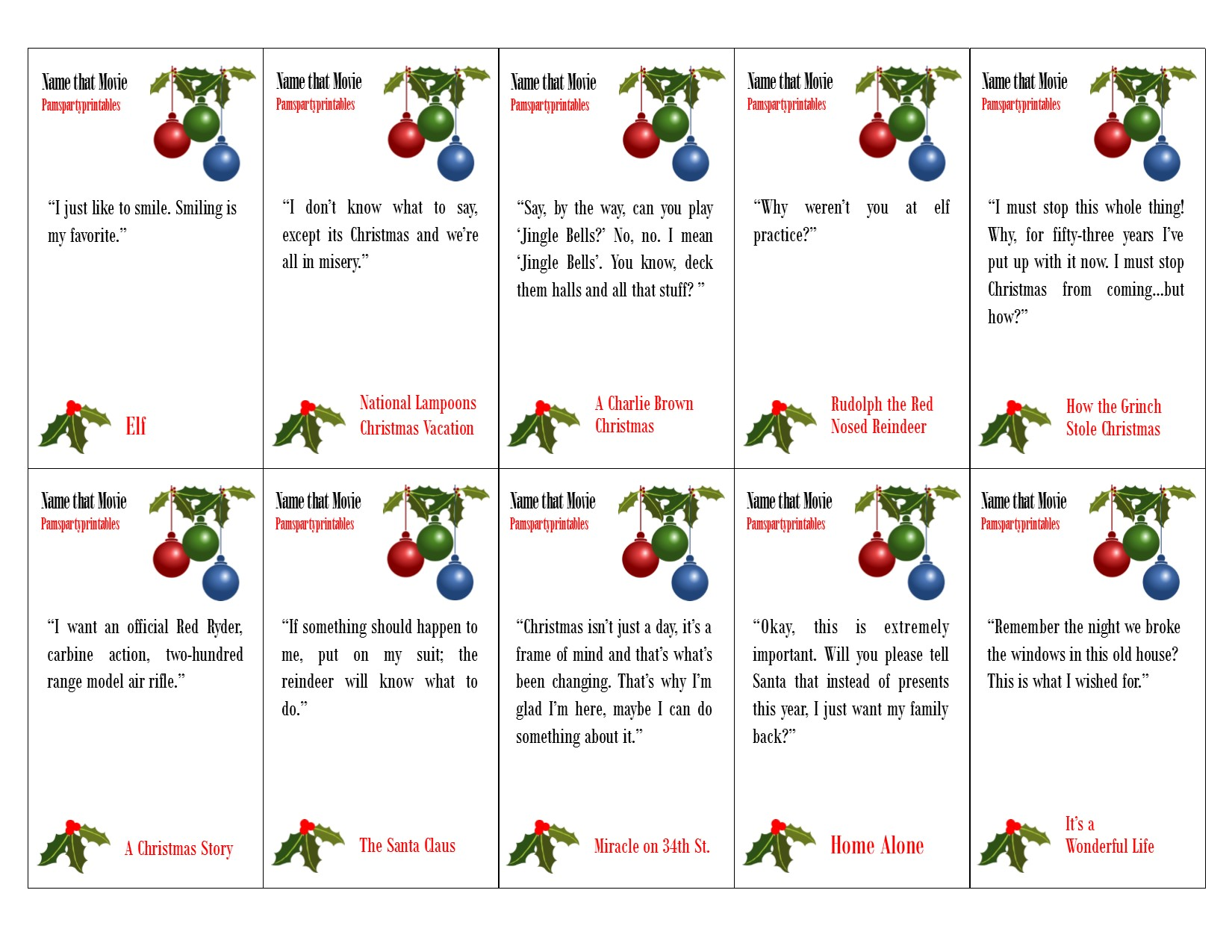 Pam\'s Party Printables – Pam Molnar